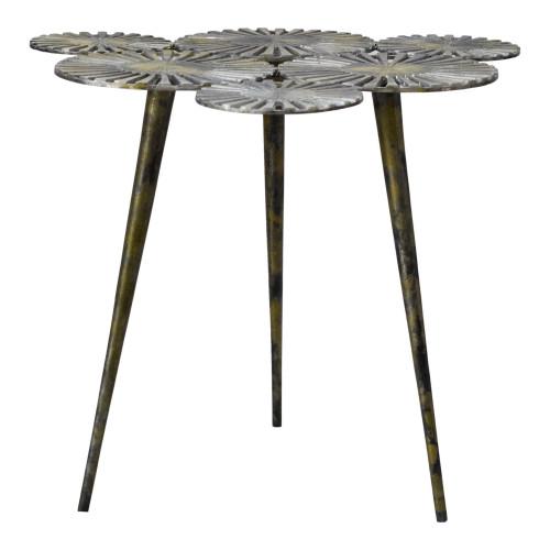 FLORA ACCENT TABLE ANTIQUE GOLD