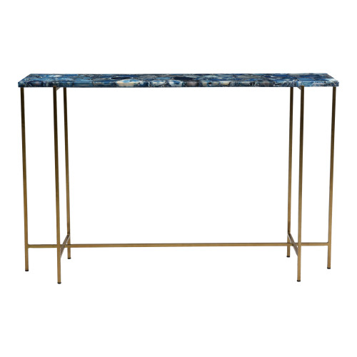 BLUE AGATE CONSOLE TABLE
