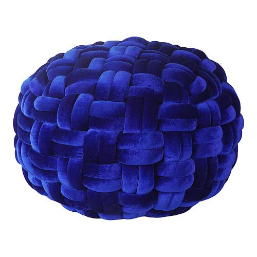 PJ VELVET POUF ROYAL BLUE