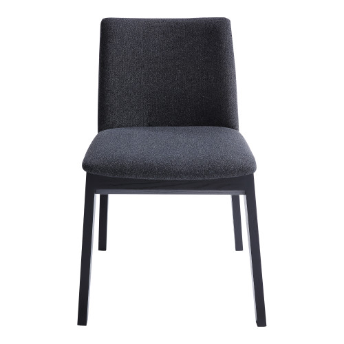 DECO ASH DINING CHAIR CHARCOAL-SET OF TWO