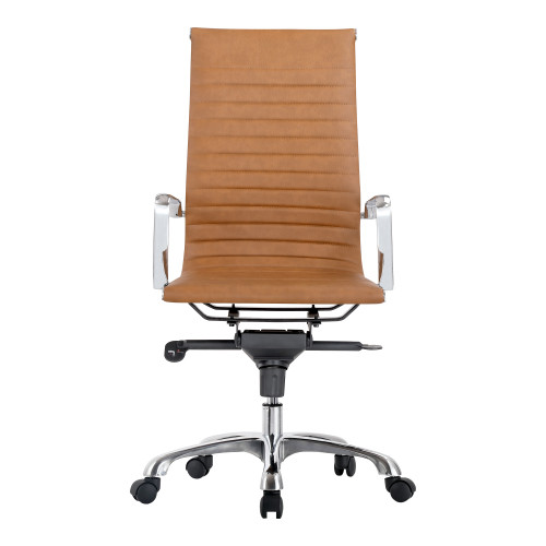 OMEGA SWIVEL OFFICE CHAIR HIGH BACK TAN