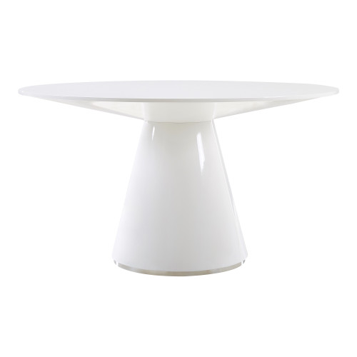 OTAGO DINING TABLE 54IN ROUND WHITE