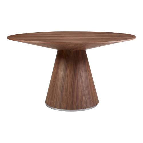 OTAGO DINING TABLE 54IN ROUND WALNUT