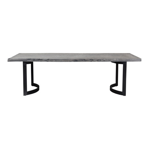 BENT DINING TABLE SMALL WEATHERED GREY