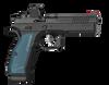 CZ Shadow 2 Optics Ready Semi-Auto Pistol, 9mm, 10 Round, Black w/ Blue Grips
