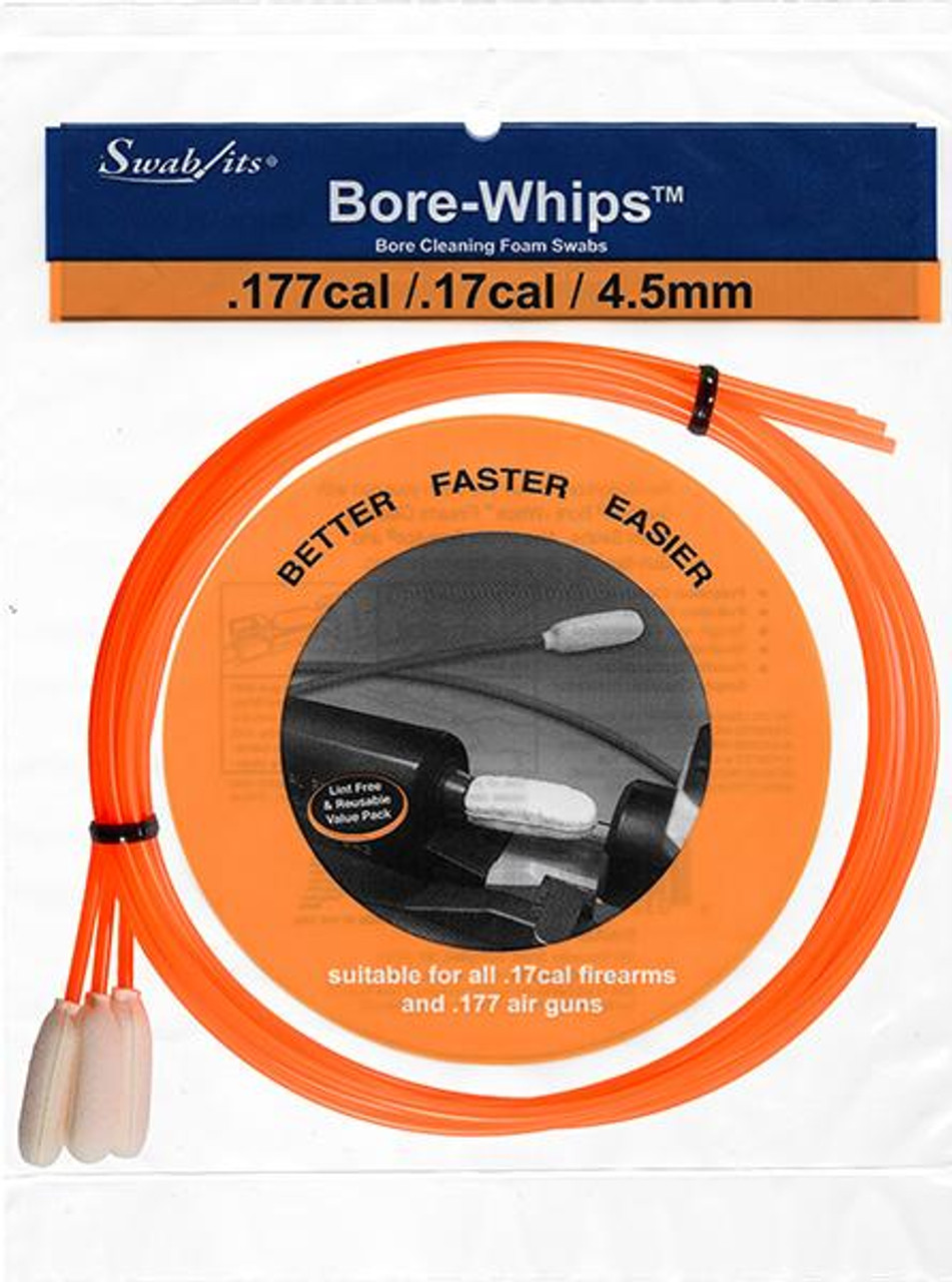 .177/4.5mm Pull-through Cleaning Bore-whips (3 Pack)