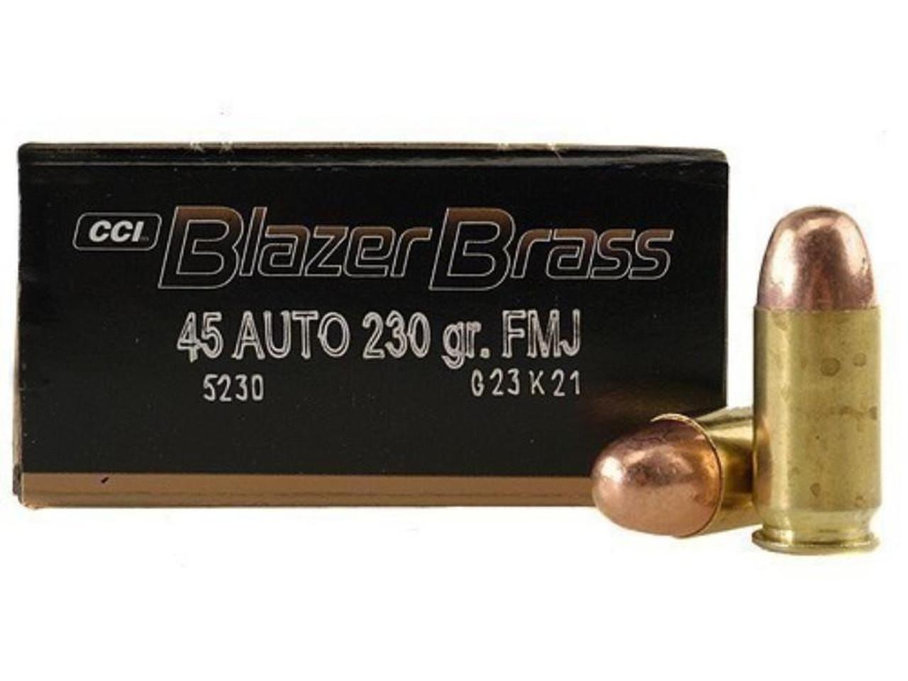 45 ACP 230Gr FMJ Blazer Brass