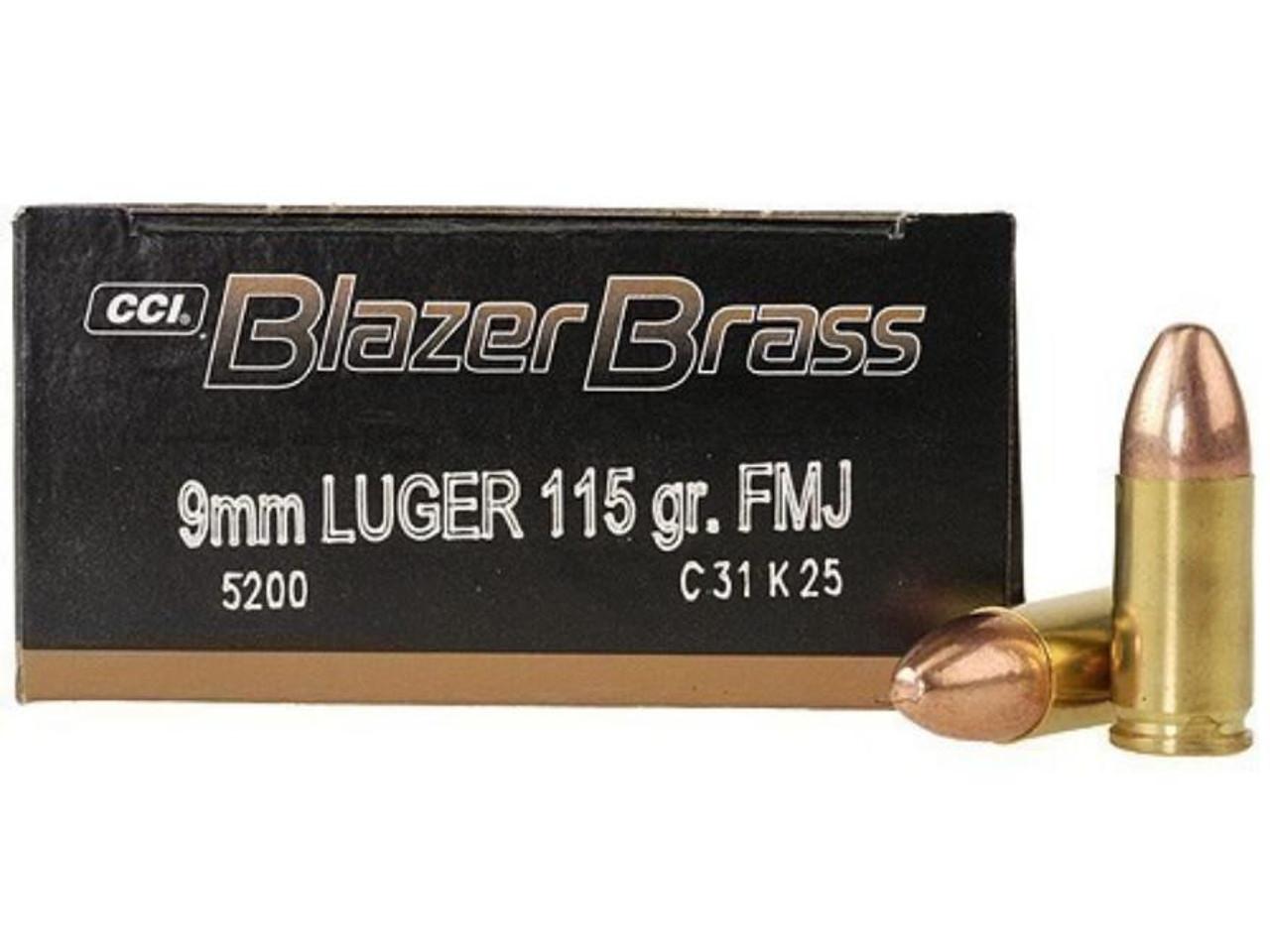 9mm Luger 115Gr FMJ Blazer Brass