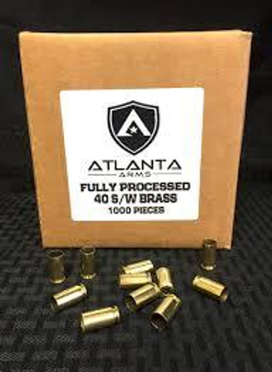 Atlanta Arms - 40S&W FULLY PROCESSED BRASS - 1000 PIECES