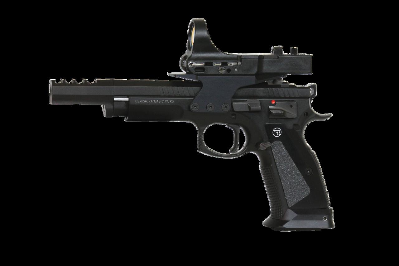 "CZ 75 TS CZechmate Semi-Auto Pistol, 9mm, 10 Round, 5.4"" Barrel, Blued"