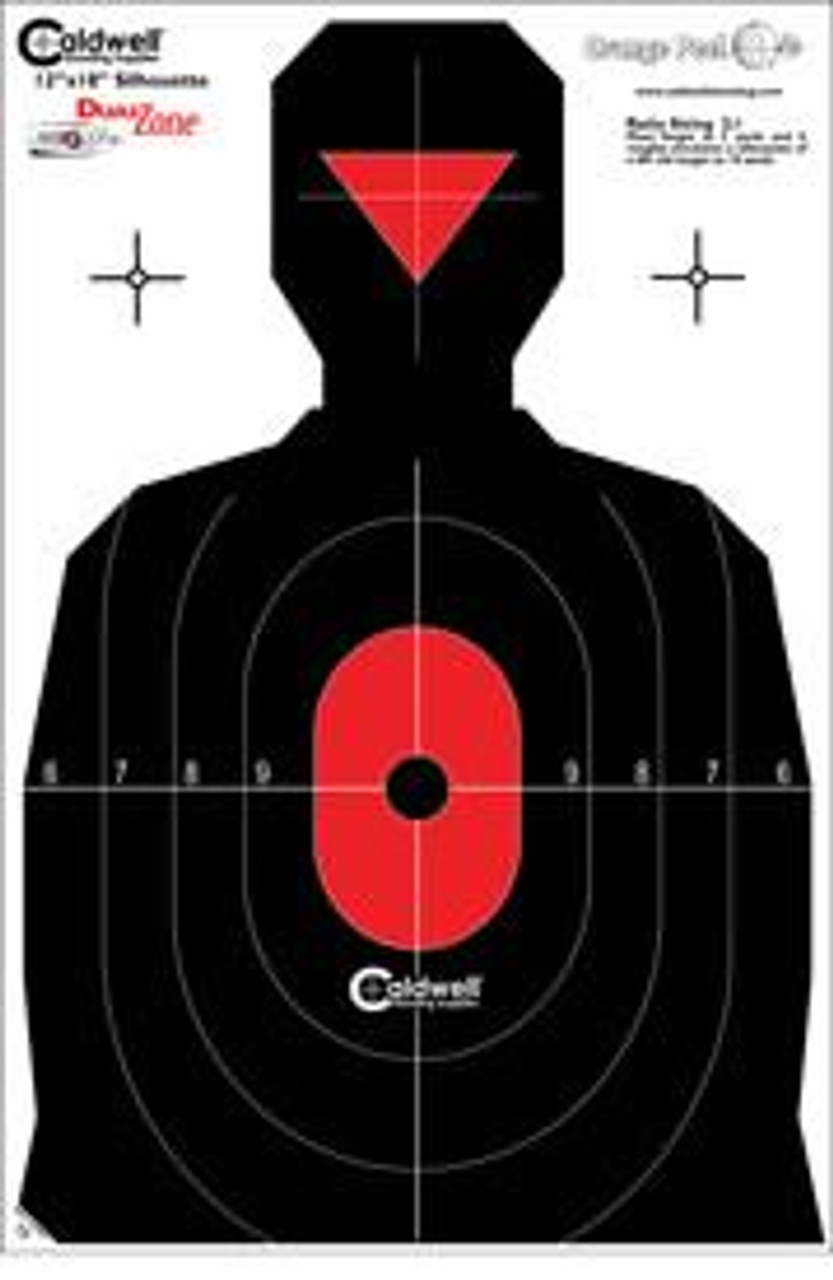 Dual Zone Flake Off Silhouette Targets