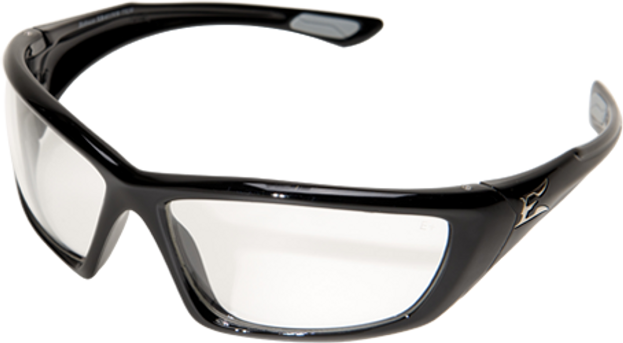 Edge Robson Safety Glasses with Black Frame and Clear Vapor Shield Lens
