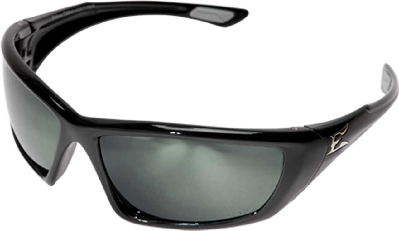 Edge Robson Safety Glasses with Black Frame and Polarized G-15 Silver Mirror Len