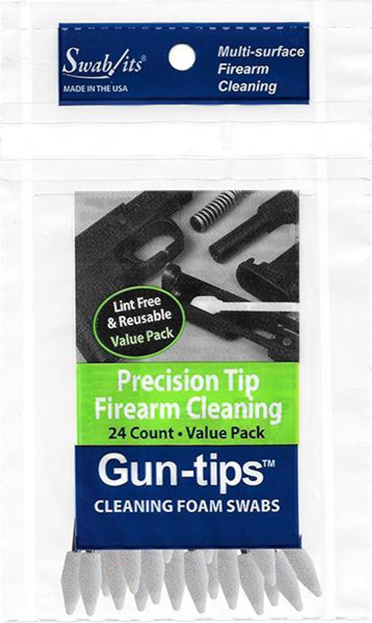 """Gun-tips 24-Piece 3"""" Precision Tip Firearm Cleaning Value Pack"""