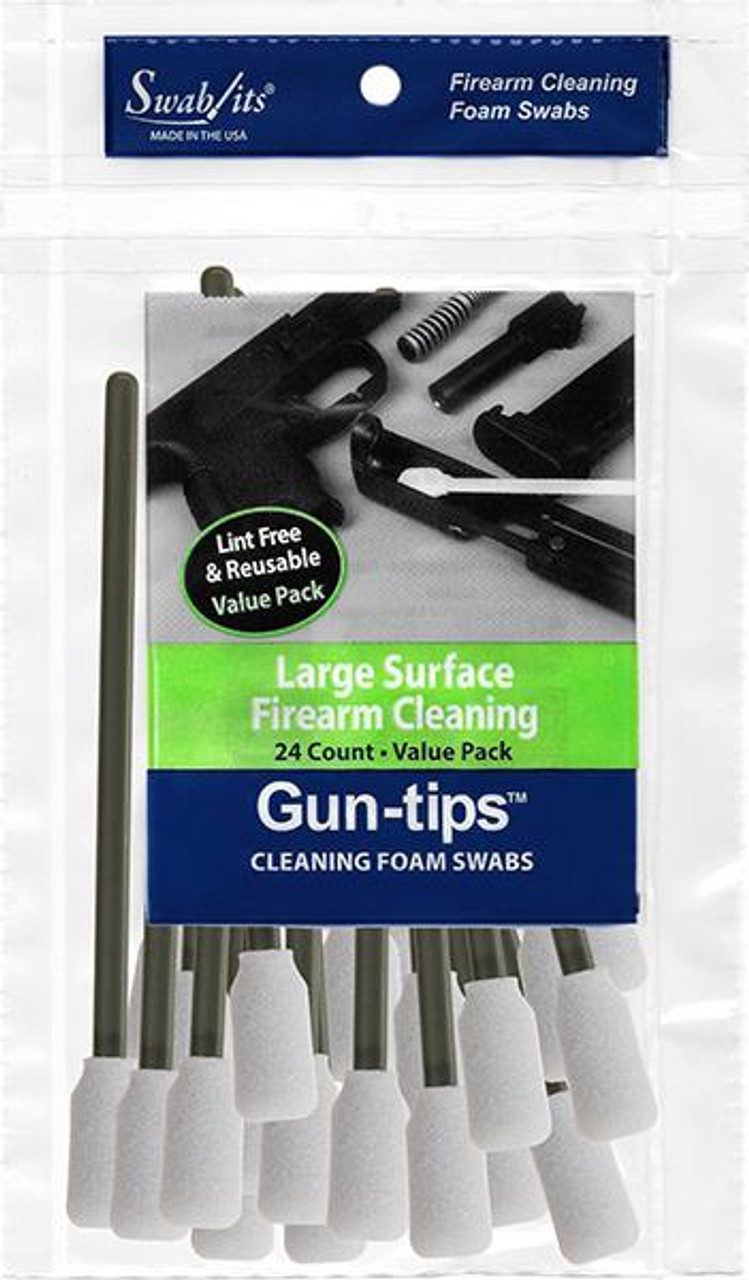 """Gun-tips 24-Piece 5"""" Large Surface Firearm Cleaning Value Pack"""