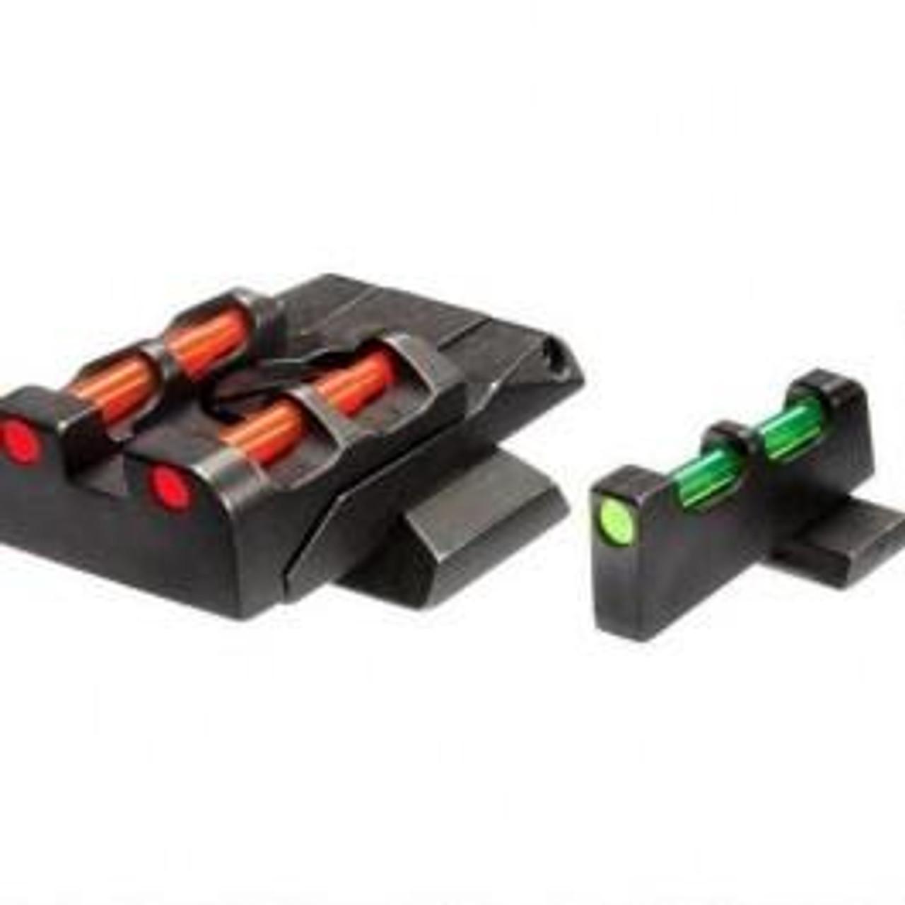 HI-VIZ Fiber Optic Adjustable Sight Set for S&W M&P 9/40