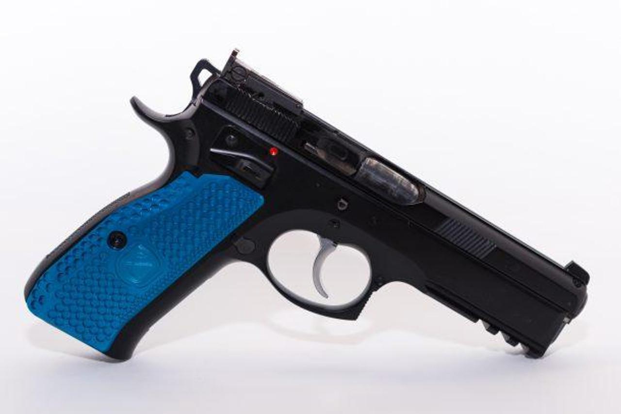 CZ 97 Aluminum Grips LONG ORANGE CZ grips Hand guns