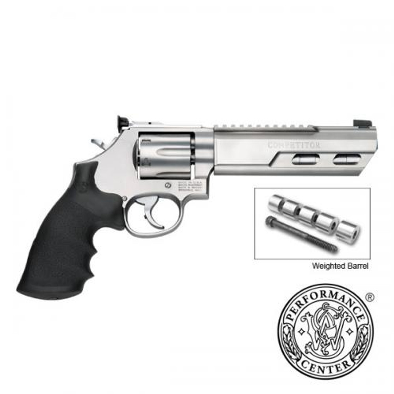 "Smith & Wesson 686 Competitor Performance Center Revolver, .357 MAG, 6"" Weighted Barrel, 6 Shot, Stainless"