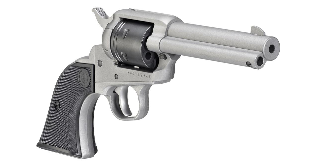 Ruger Wrangler Single-Action Revolver in Silver Cerakote 22LR
