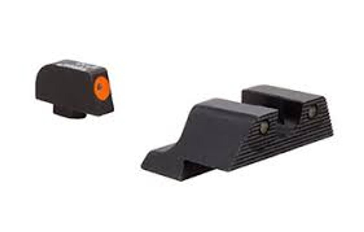 Trijicon - GL613-C-600846: Trijicon HD XR™ Night Sight Set — Orange Front Outline — for Glock 48 Pistols