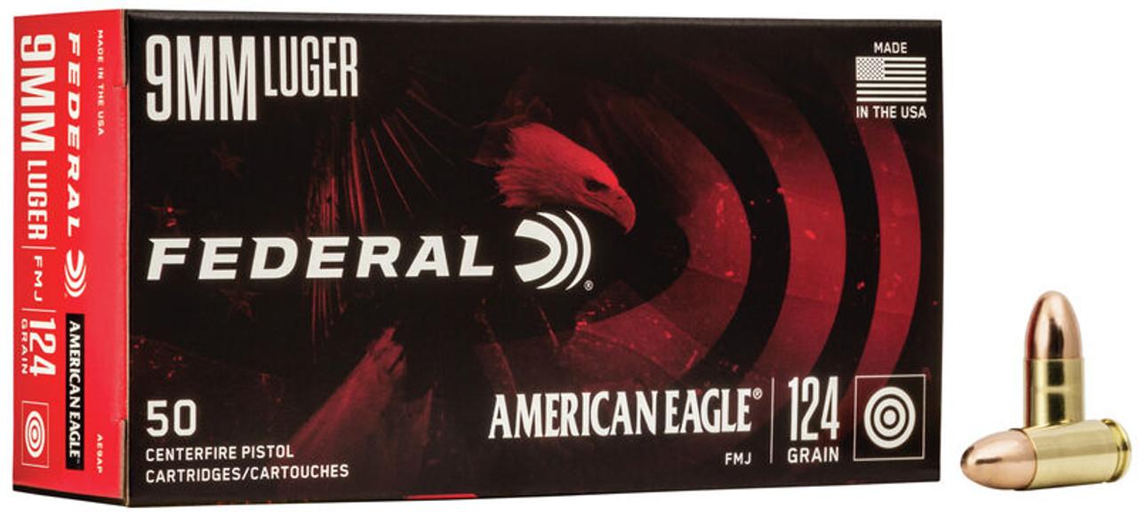 Federal American Eagle 9mm 124gr. FMJ