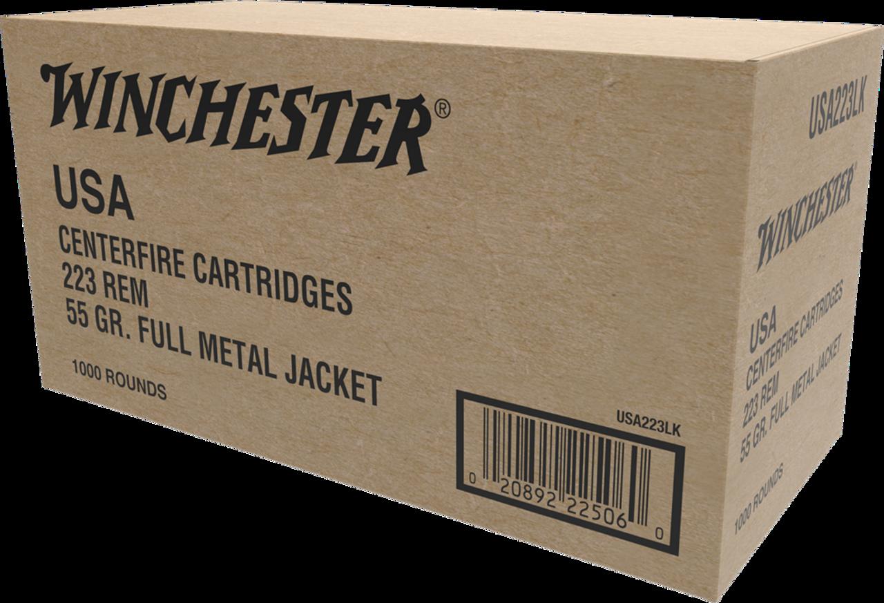 Winchester 223 Rem Bulk, 55 Grain FMJ Case of 1000