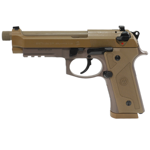 "BERETTA M9A3 W/RAIL, 4.90"" THREADED BARREL, FLAT DARK EARTH, 9MM"