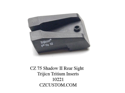 CZ Shadow II Rear Tritium CZ 75 SHADOW & SP01 SHADOW