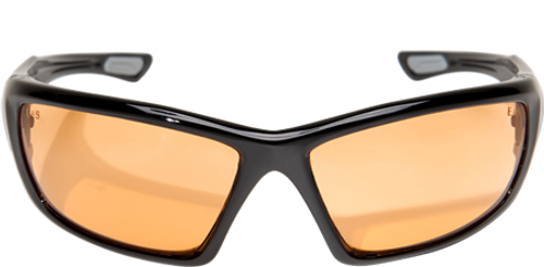 Edge Robson Safety Glasses with Black Frame and Amber Lens