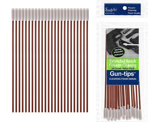 "Gun-tips 24-Piece 6"" Extended Reach Firearm Cleaning Value Pack"