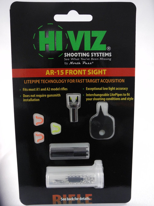 HI-VIZ AR-15 Interchangeable Fibre Optic Front Sight