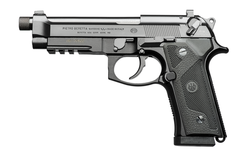 "BERETTA M9A3 W/RAIL, 4.90"" THREADED BARREL, BLACK, 9MM"