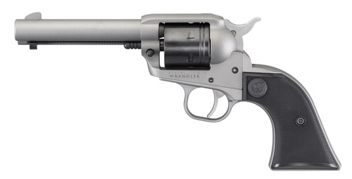 Ruger Wrangler Single-Action Revolver in Silver Cerakote 22LR