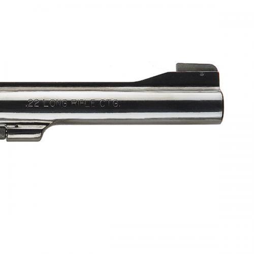 "Smith & Wesson Model 17 Masterpiece Revolver, .22LR, 6"" Barrel, Wood Grip, Blued Finish, 6 Round"