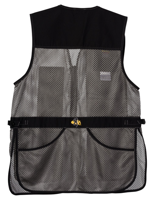Trapper Creek Mesh Shooting Vest, Black/Gray