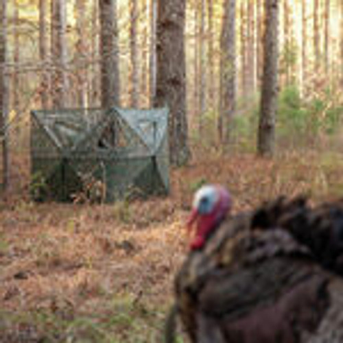 Primos DOUBLE BULL SURROUNDVIEW STAKEOUT HUNTING BLIND IN GREENLEAF