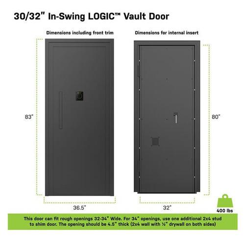 Lockdown - Logic Vault Door - Inswing (Left-Hand) 30/32 Inches