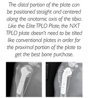 3.5mm NXT TPLO Plate, Double threaded locking holes-Right