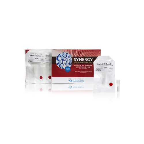 VTS Synergy - Pure Synthetic Bone Graft - 5x1 cc doses - Peel Pack Vials