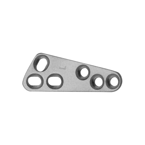 2.4mm T style TPLO plate - pre-bent - Matte Finish - Left