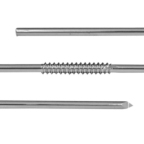 1/8 inch Centerface Fixation Pin - Positive Cancellous Thread - Long