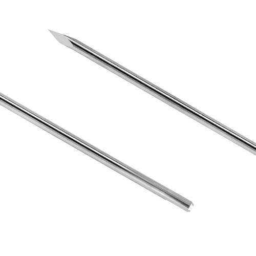 0.027 Trocar/Flat End 4 inch Smooth Half Pin