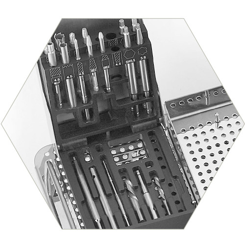 Removal Bit Instrument Case with ID panel