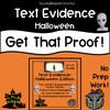 Text Evidence:  Halloween