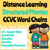 Distance Learning CCVC Word Chain Google Slides (Remote Ready Resource)