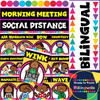 Morning Greeting Social distance Posters - Bilingual