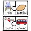 Free Rhyming Puzzles In Spanish-Rompecabezas de rimas ¡GRATIS!