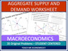 Aggregate Supply and Demand Worksheet Distance Learning Google Slides