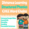 Distance Learning CVCC Word Chain Google Slides (Remote Ready Resource)