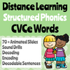 Distance Learning CVCe Word Chain Google Slides (Remote Ready Resource)